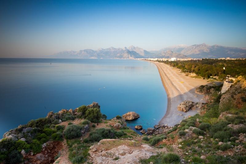 The beach in Antalya