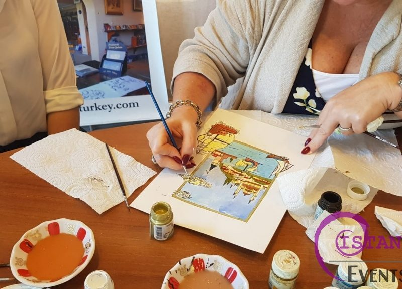 Ottoman Miniature Watercolor Paintings Workshop