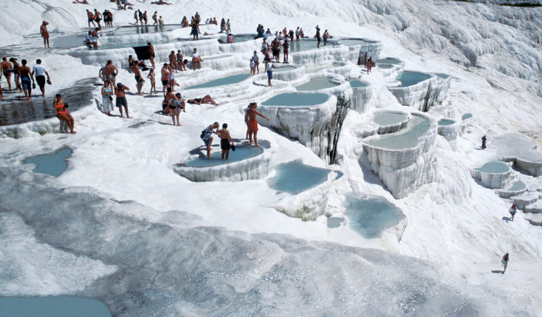Hot Spring and Cotton Castles at Pamukkale