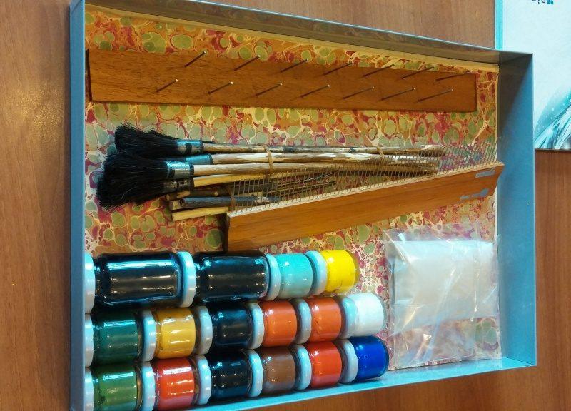 Turkish Marbling Ebru Art Set and Materials