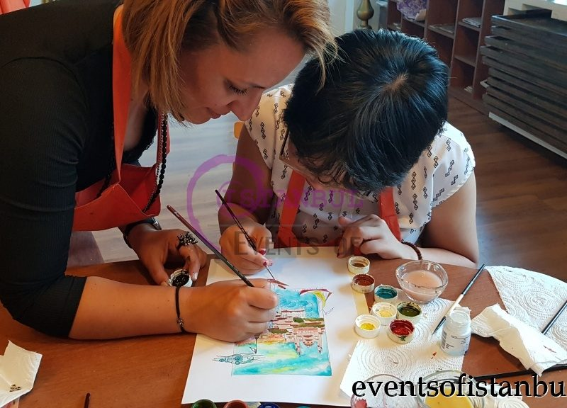 Painting Lesson Workshop Masterclass in Istanbul