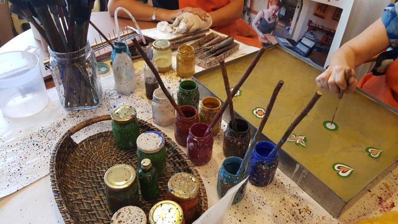 """Dance of Colors on Water"": Turkish Art Workshop Ebru"